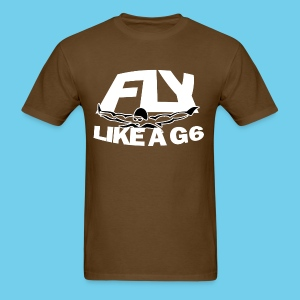Fly like a G6- Men's Tee- Design Front- Rear mini logo - Men's T-Shirt