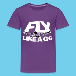 Fly like a G6- Kid's Premiun Tee- Design Front- Rear mini logo - Kids' Premium T-Shirt