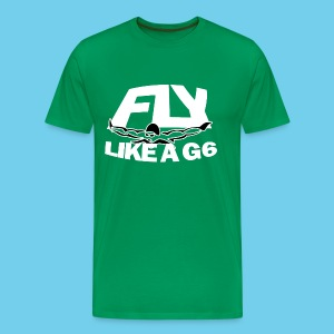 Fly like a G6- Men's Premium Tee- Design Front- Rear mini logo - Men's Premium T-Shirt