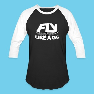 Fly like a G6- Men's Baseball Tee- Design Front- Rear mini logo - Baseball T-Shirt