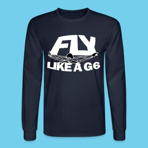 Fly like a G6- Men's LS Tee- Design Front- Rear mini logo - Men's Long Sleeve T-Shirt