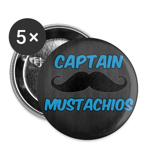 Captain Mustachios Buttons - Buttons small 1'' (5-pack)