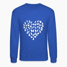 Cat Heart Art Long Sleeve Shirts