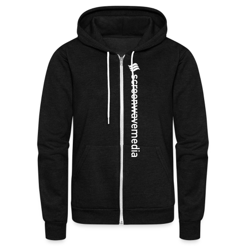 SW Vertical Hoodie - Unisex Fleece Zip Hoodie