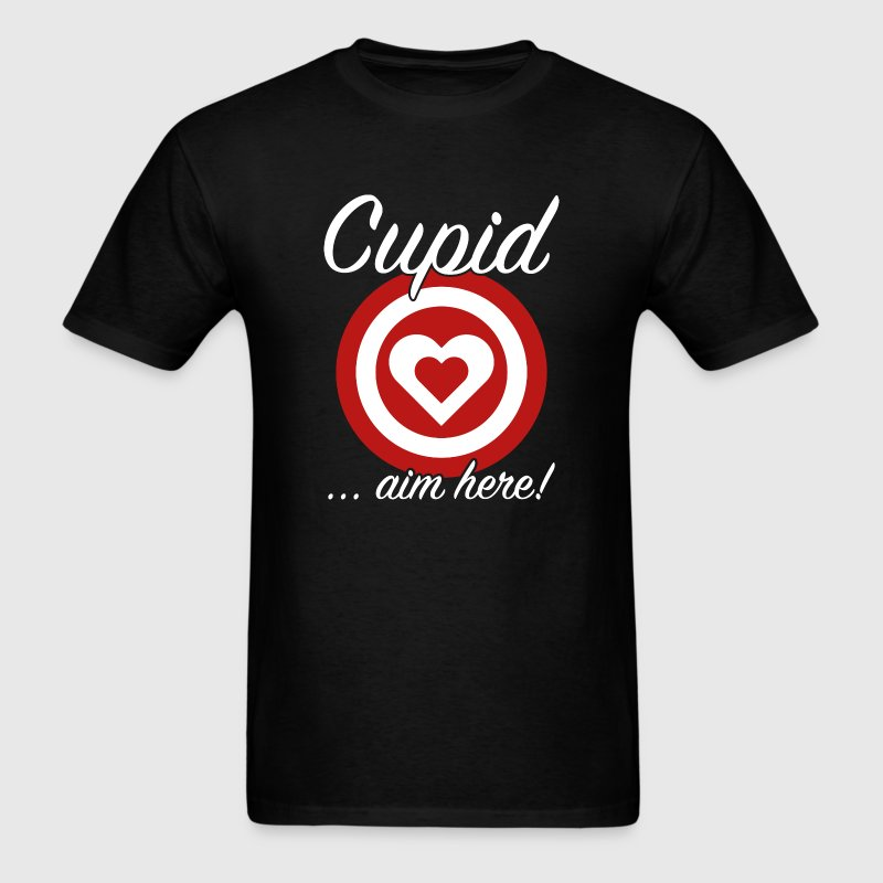 Cupid Aim Here - Men's T-Shirt