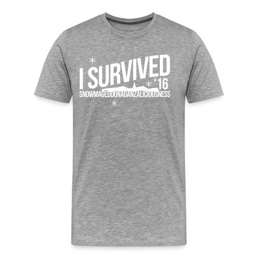I survived Snowmageddon!! - Men's Premium T-Shirt