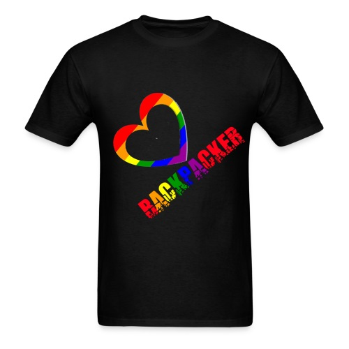 Gay Backpacker - Men's T-Shirt