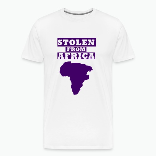 Stolen From Africa Standard Men's Tee (Purple Logo)  - Men's Premium T-Shirt
