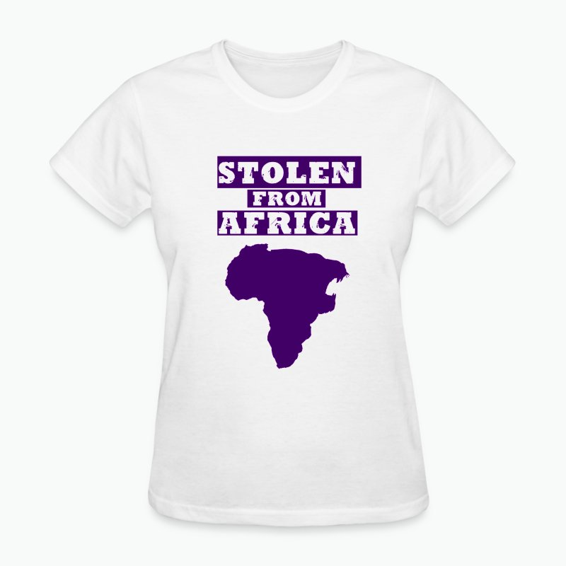 Stolen From Africa Standard Women's Tee (Purple Logo)  - Women's T-Shirt
