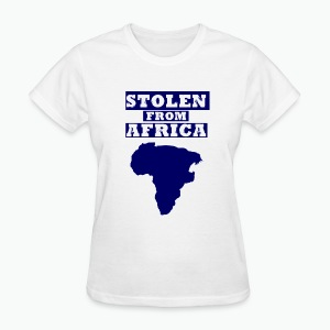 Stolen From Africa Standard Women's Tee (Blue Logo)  - Women's T-Shirt