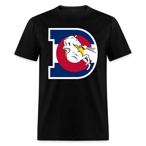 Men's Colorado Flag Broncos - Men's T-Shirt