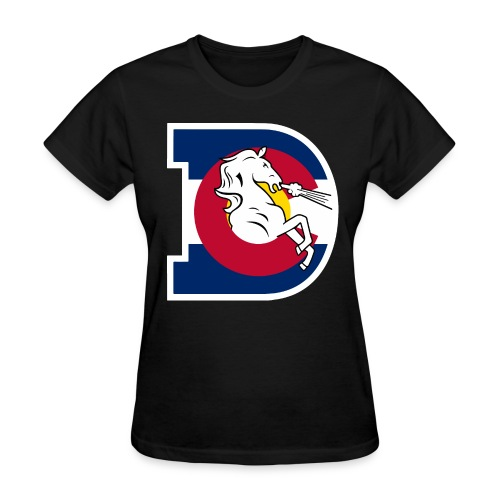 Women's Colorado Flag Broncos - Women's T-Shirt