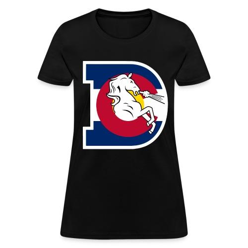 Women's Colorado Flag Broncos - Women's T-Shirt