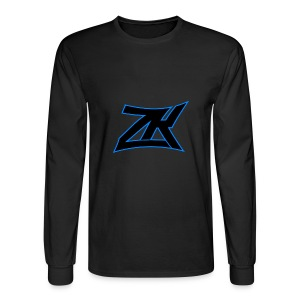 Black Men's ZK Logo Long Sleeve - Men's Long Sleeve T-Shirt