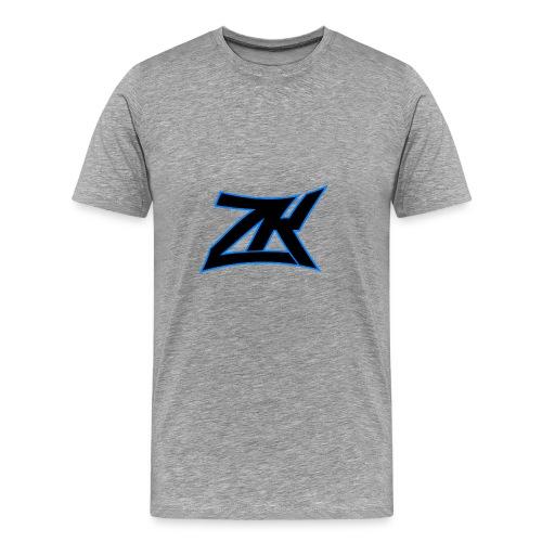 Grey Men's ZK Logo Tee - Men's Premium T-Shirt