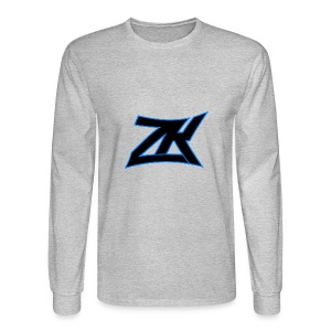 Grey Men's ZK Logo Long Sleeve - Men's Long Sleeve T-Shirt