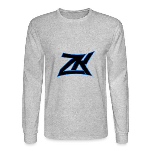 Grey Men's ZK Logo Long Sleeve - Men's Long Sleeve T-Shirt