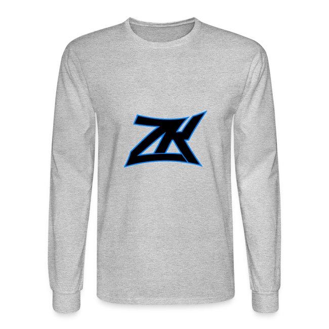 Grey Men's ZK Logo Long Sleeve | Men's Long Sleeve T-Shirt