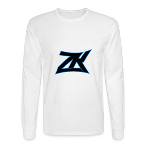 White Men's ZK Logo Long Sleeve - Men's Long Sleeve T-Shirt