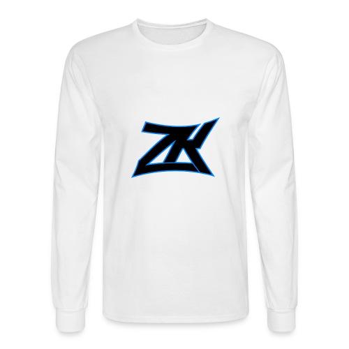 White Men's ZK Logo Long Sleeve - Men's Long Sleeve T-Shirt