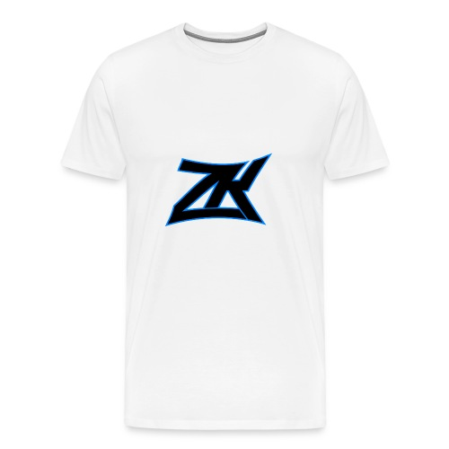 White Men's ZK Logo Tee - Men's Premium T-Shirt