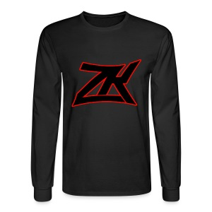 Black Men's RED ZK Logo Long Sleeve - Men's Long Sleeve T-Shirt