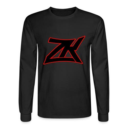 Black Men's RED ZK Logo Long Sleeve - Men's Long Sleeve T-Shirt