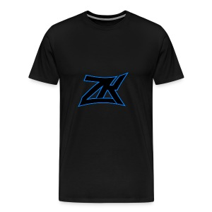 Black Men's ZK Logo Tee - Men's Premium T-Shirt