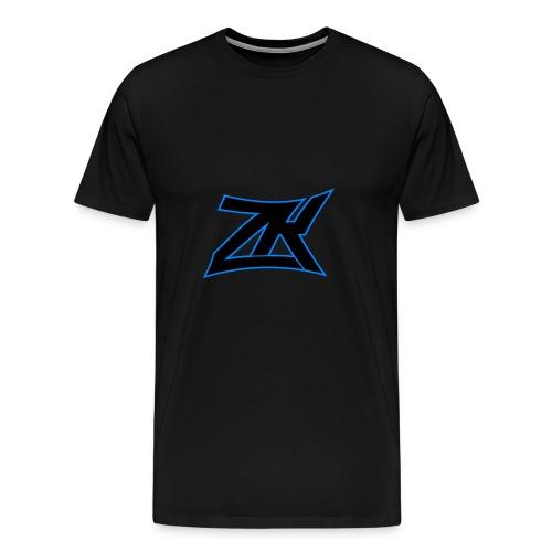 Black Men's ZK Logo Tee - Men's Premium T-Shirt