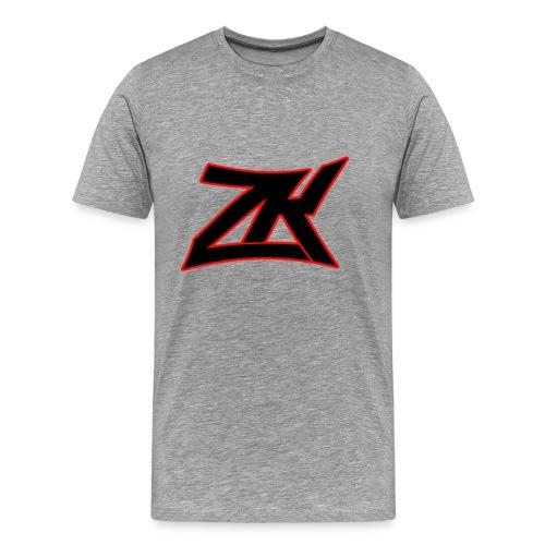 Grey Men's RED ZK Logo Tee - Men's Premium T-Shirt