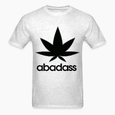 a bad ass weed logo T-Shirts