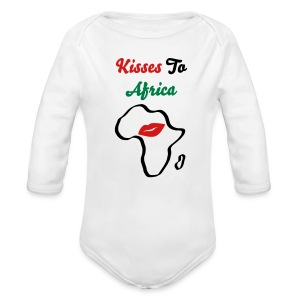 Kisses To Africa Baby   Long Sleeve - Long Sleeve Baby Bodysuit