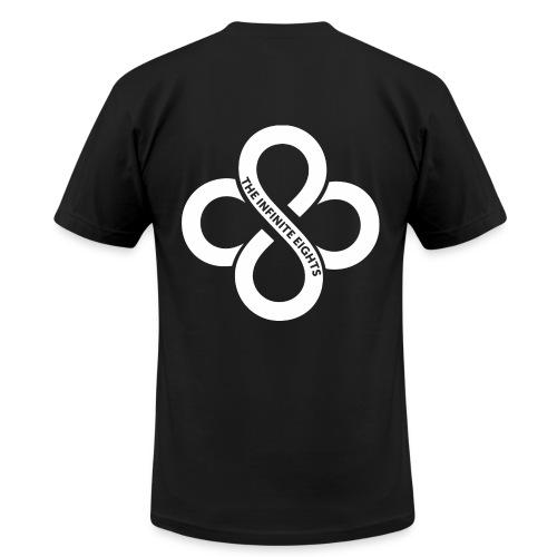 Mens Short Sleeve White Logo - Men's Fine Jersey T-Shirt