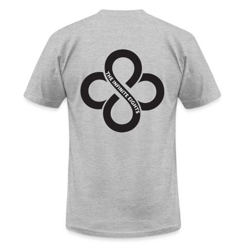 Mens Short Sleeve Black Logo - Men's Fine Jersey T-Shirt