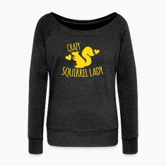 Crazy Squirrel Lady Long Sleeve Shirts