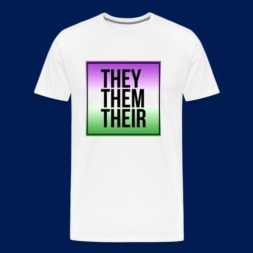 They, Them, Their Shirt - Men's Premium T-Shirt