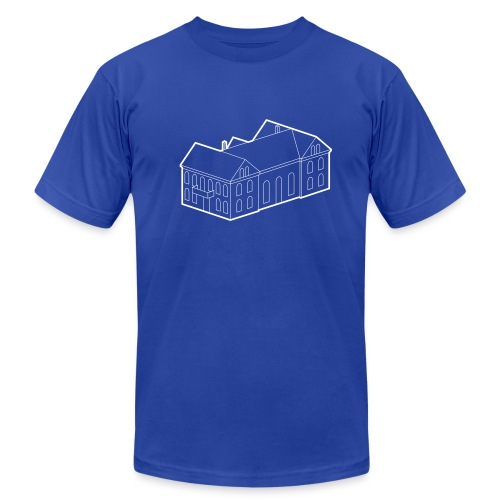 Iðnó blueprint - Men's Fine Jersey T-Shirt