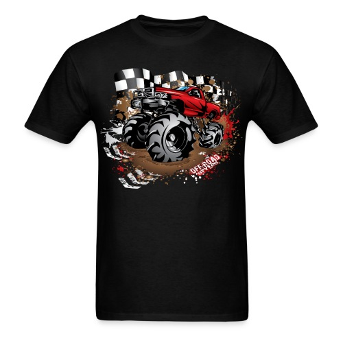 Red Race Mega Truck - Men's T-Shirt