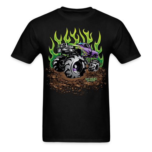 Green Flame Mud Truck - Men's T-Shirt