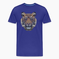 Polygon Tiger Transparent T-Shirts