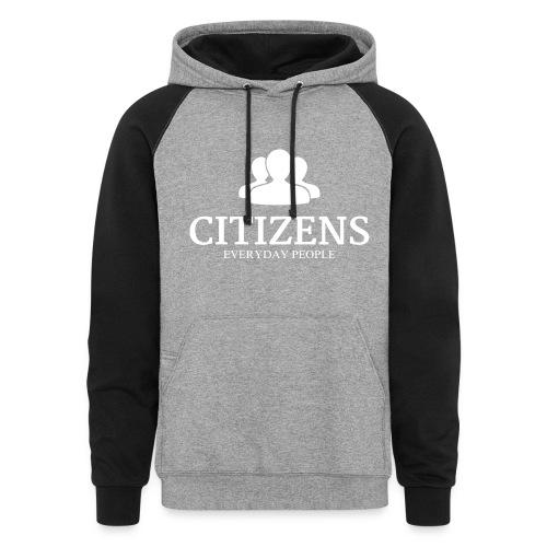 Citizens Sweaters Premium Design White - Colorblock Hoodie