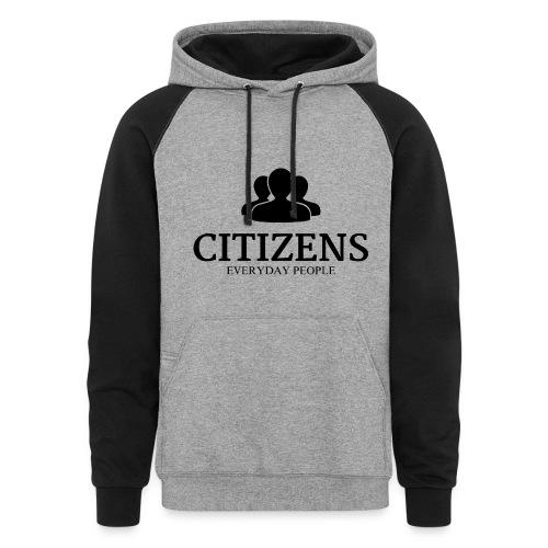 Citizens Sweaters Premium Design Black - Colorblock Hoodie