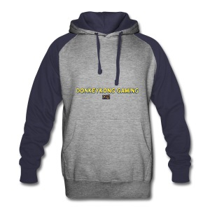 Huvtröja med donkeykongaming xd text  - Colorblock Hoodie