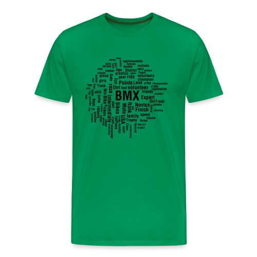 Mens BMX word cloud T-shirt - Men's Premium T-Shirt