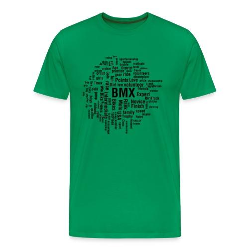 Mens BMX word cloud T-shirt - Men's Premium T-Shirt