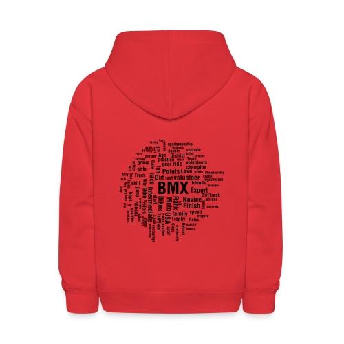 Kids BMX word cloud hoodie - Kids' Hoodie