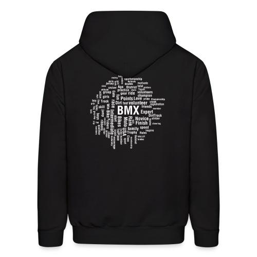 Mens BMX word cloud hoodie - Men's Hoodie