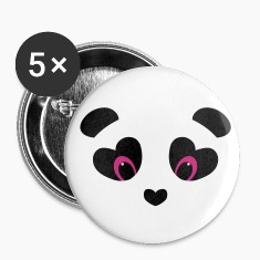 panda transparent Buttons