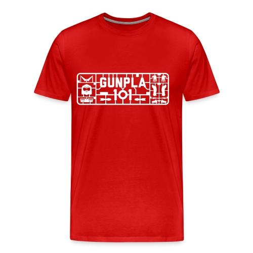Gunpla 101 Men's T-shirt — Char's Custom Red - Men's Premium T-Shirt