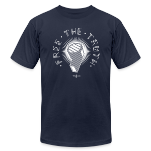 Free the Truth - Men's T-Shirt by American Apparel